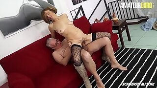 AmateurEuro - Dirty Granny Lulu Visconti Gets Some Anal Love