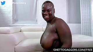 Rough anal for degraded black BBW